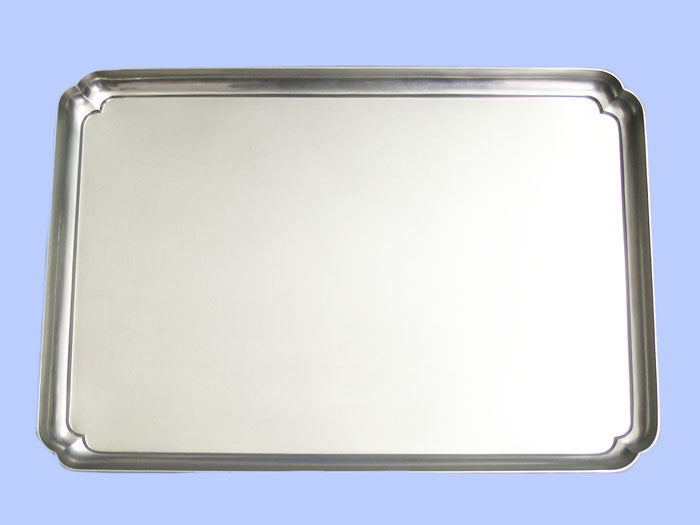 Handmade Large Oblong Silver Tray