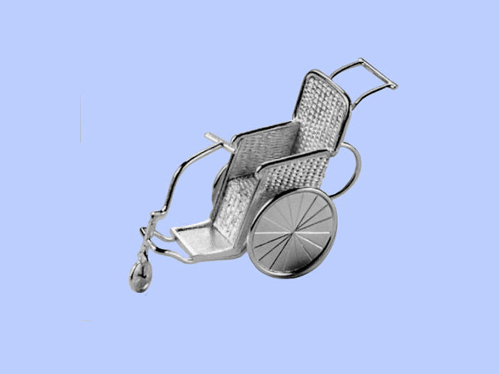 Silver Model of a Bath Chair