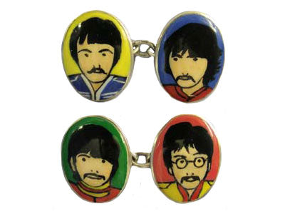 'The Beatles' New Silver Cufflinks