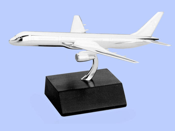 Silver Model of the Boeing 757-200