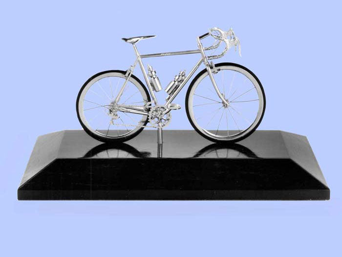 Silver Model of a Mountain Bicycle