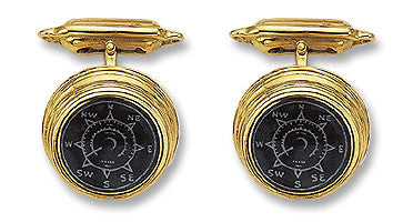 18K Gold 'Ship's Compass' Cufflinks