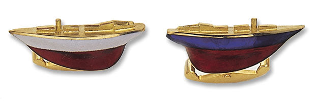 18K Gold 'Yacht's Hull' Cufflinks