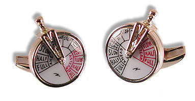 18K Gold 'Ship's Telegraph' Cufflinks