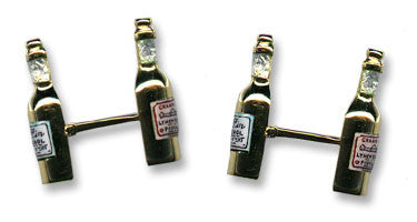 18K Gold 'Wine Bottle' Cufflinks
