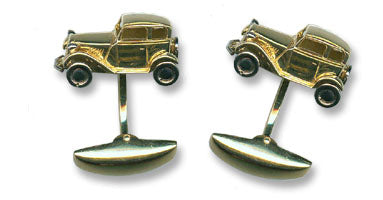 18K Gold 'Vintage Car' Cufflinks