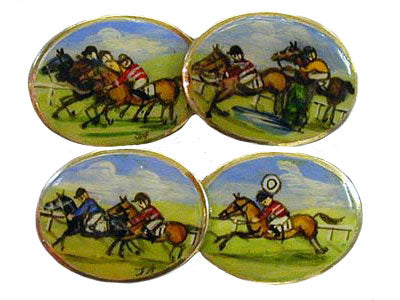 'The Horse Race' New Silver Cufflinks
