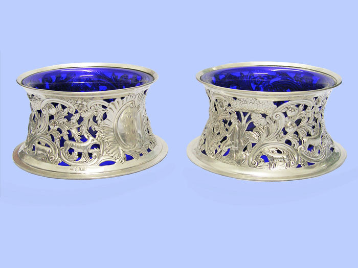 Pair of Edwardian Silver Dish Rings