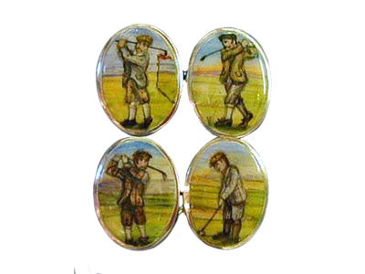 'The Veteran Golfers' <br>New Silver Cufflinks