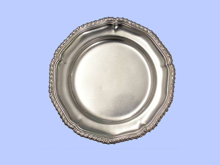 Small Silver Salver with Shaped Gadroon Border