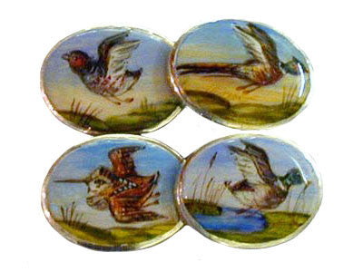 The Game Birds New Silver Cufflinks
