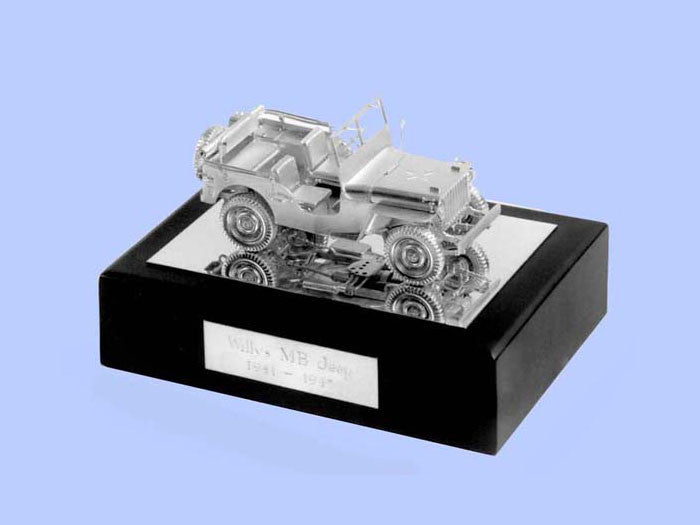 Silver Model of the Willys MB Jeep