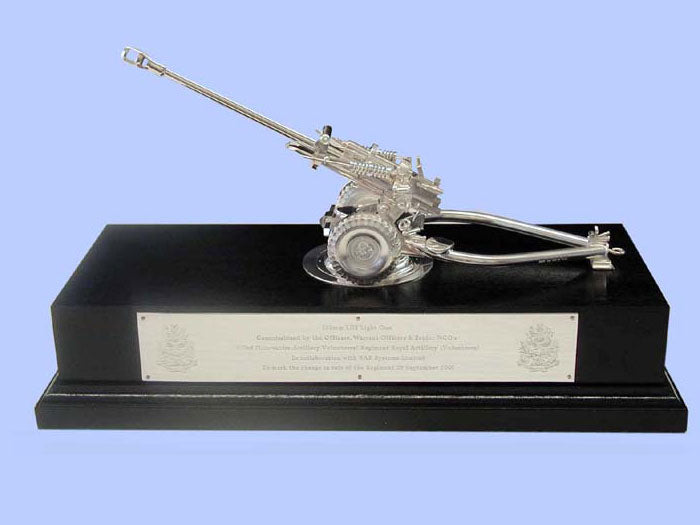Silver Model of the L118 Light Gun