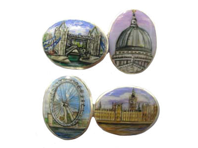 'The London Scenes' New Silver Cufflinks