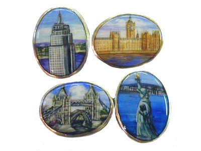 'The London-New York Scenes' New Silver Cufflinks