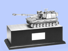 Silver Model of the M109 Howitzer