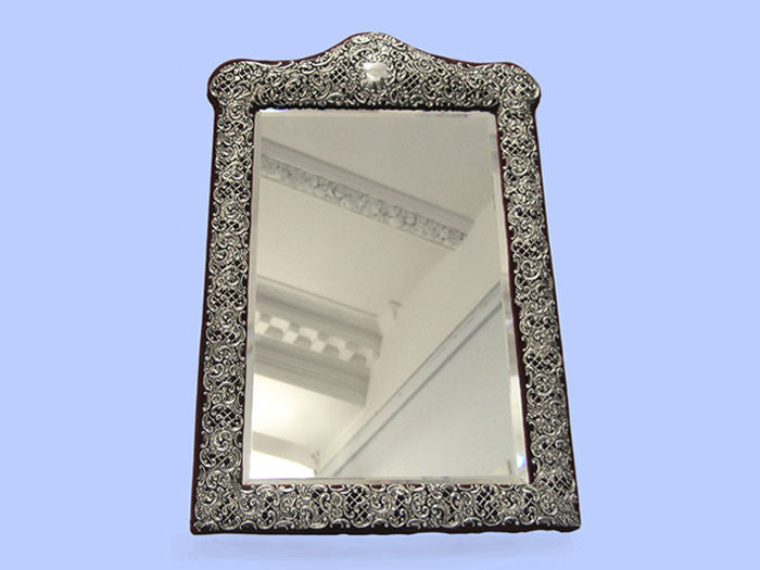 Late Victorian Silver Dressing Table Mirror