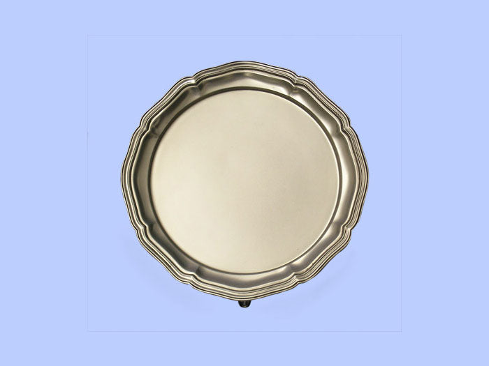 Small Silver Salver with Moulded Border 1937