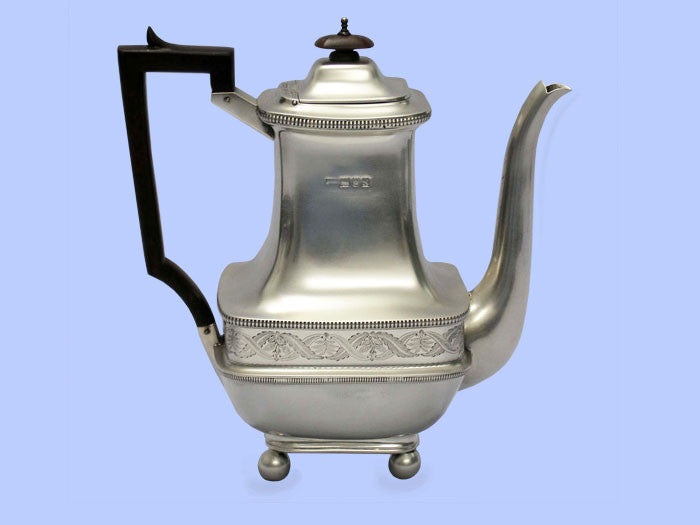 Large Oblong Silver Coffee Pot