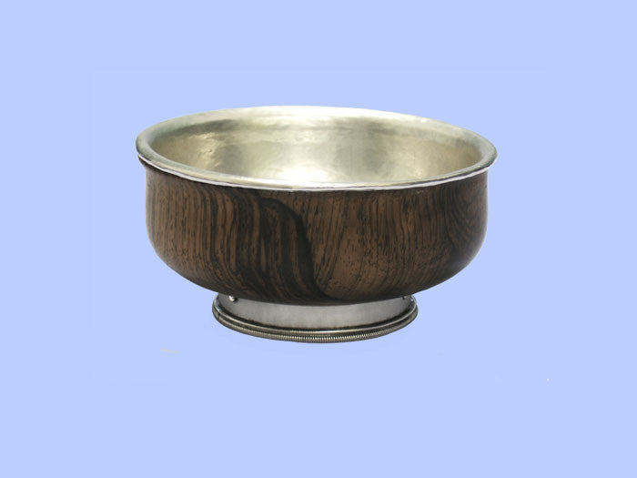 *Omar Ramsden* - Silver and Wood Mazer Bowl