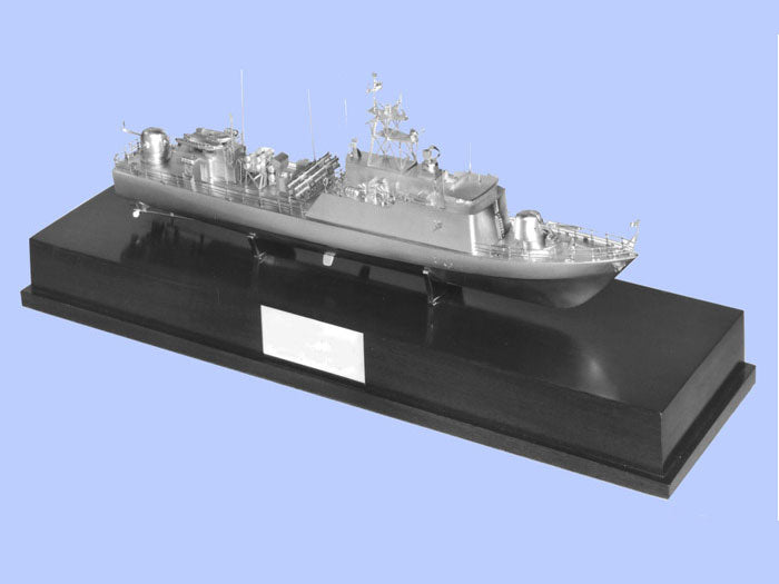 Silver Model of a Fast Patrol Vessel