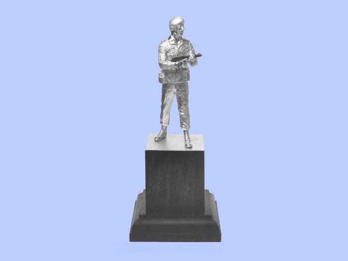Silver Statuette of a Royal Military Police Corporal