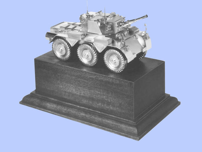 Silver Model of the Saladin Mark II Armoured  Vehicle