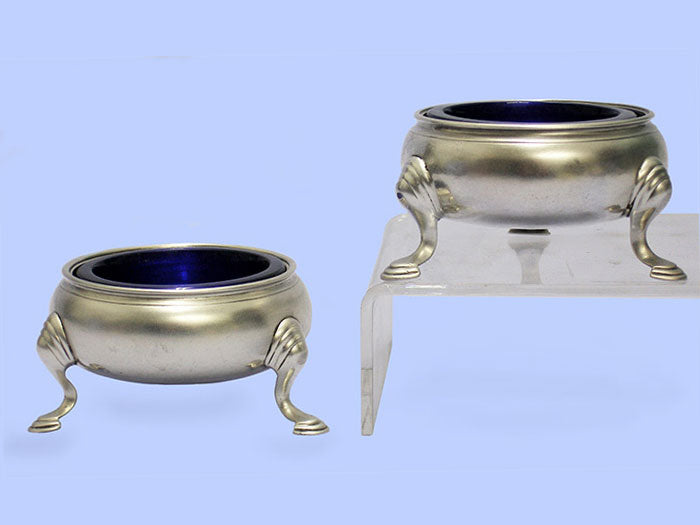 Pair of George II Round Silver Salt Cellars