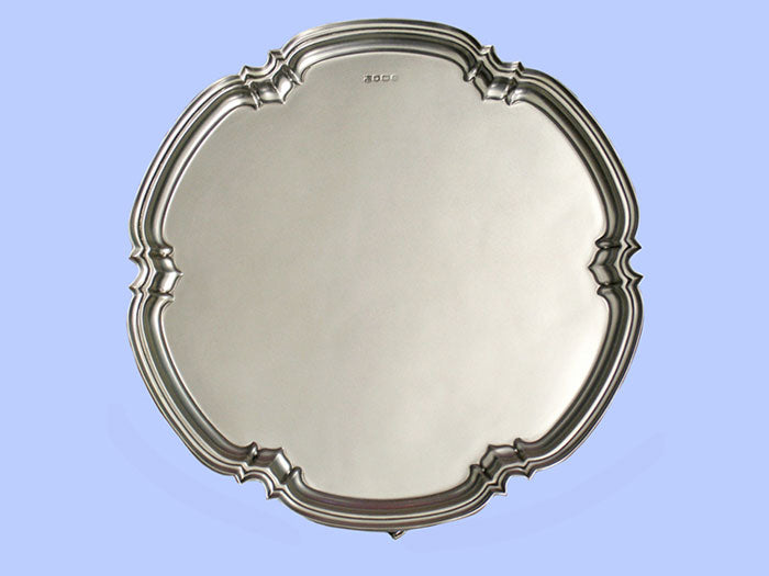 Large Lobed Silver Salver 1979