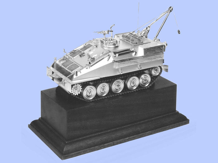 Silver Model of the Samson Recovery Vehicle