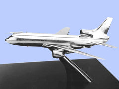 Silver Model of the Lockheed Tristar K2 Air-to-Air Tanker