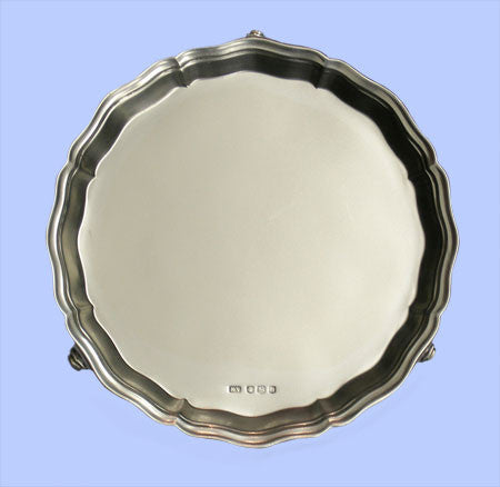 Small Silver Salver with Moulded Border 1962