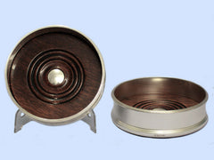 Pair Of New Plain Round Wider Silver Wine Coasters