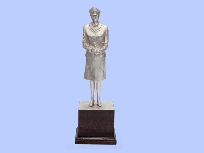 Silver Statuette of a Women's Royal Army Corps Corporal