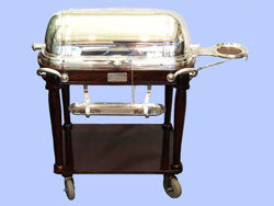 Refurbished Silver-Plated Beef Carving Trolleys