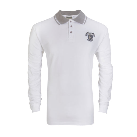 White Long Sleeve College Male Golf Shirt ( compulsory)