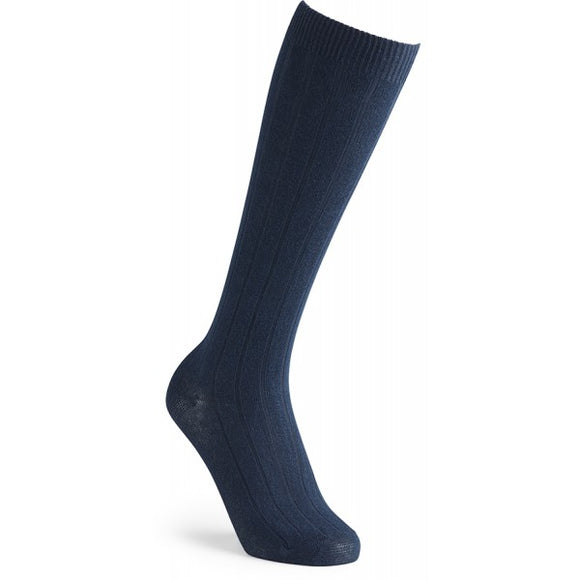 Navy Knee Length Socks (double pack)