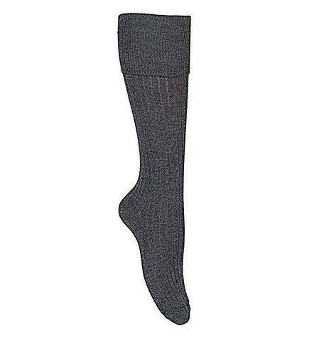 Knee Length Grey Double Pack Socks