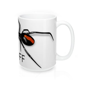 Hands Off Spider Mug 15oz