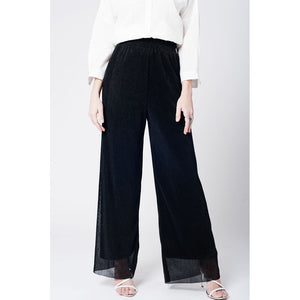 Black cheesecloth pants