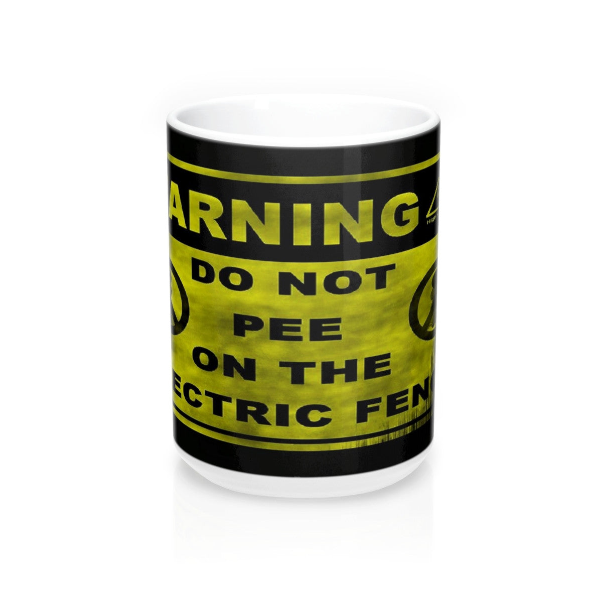 Funny do not pee on fence meme Mug 15oz