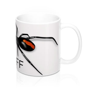 Hands Off Spider Mug 11oz