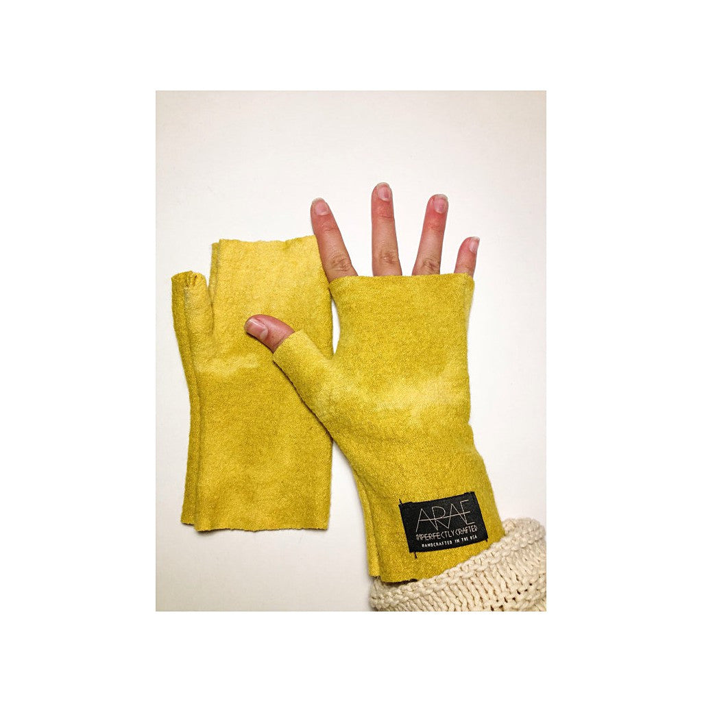Sunny Wool  Short Fingerless Gloves