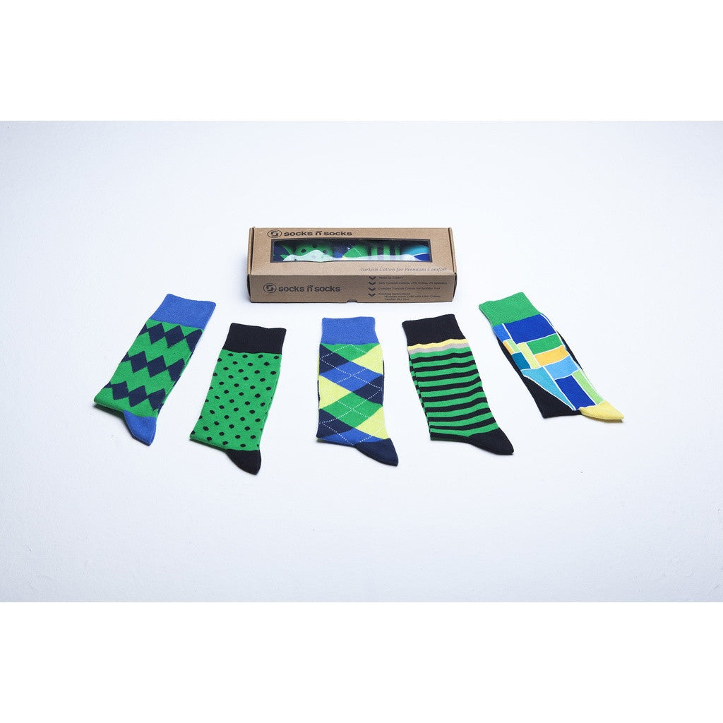 Men's 5-Pair Colorful Mix Socks