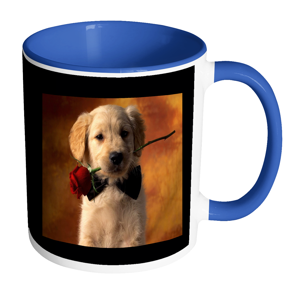 Puppy Love accent coffee mug 11 ounces