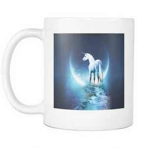Moon Unicorn double sided 11 ounce coffee mug