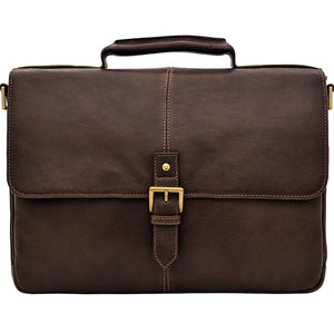"Hidesign Charles Leather 15"" Laptop Compatible Briefcase Work Bag"