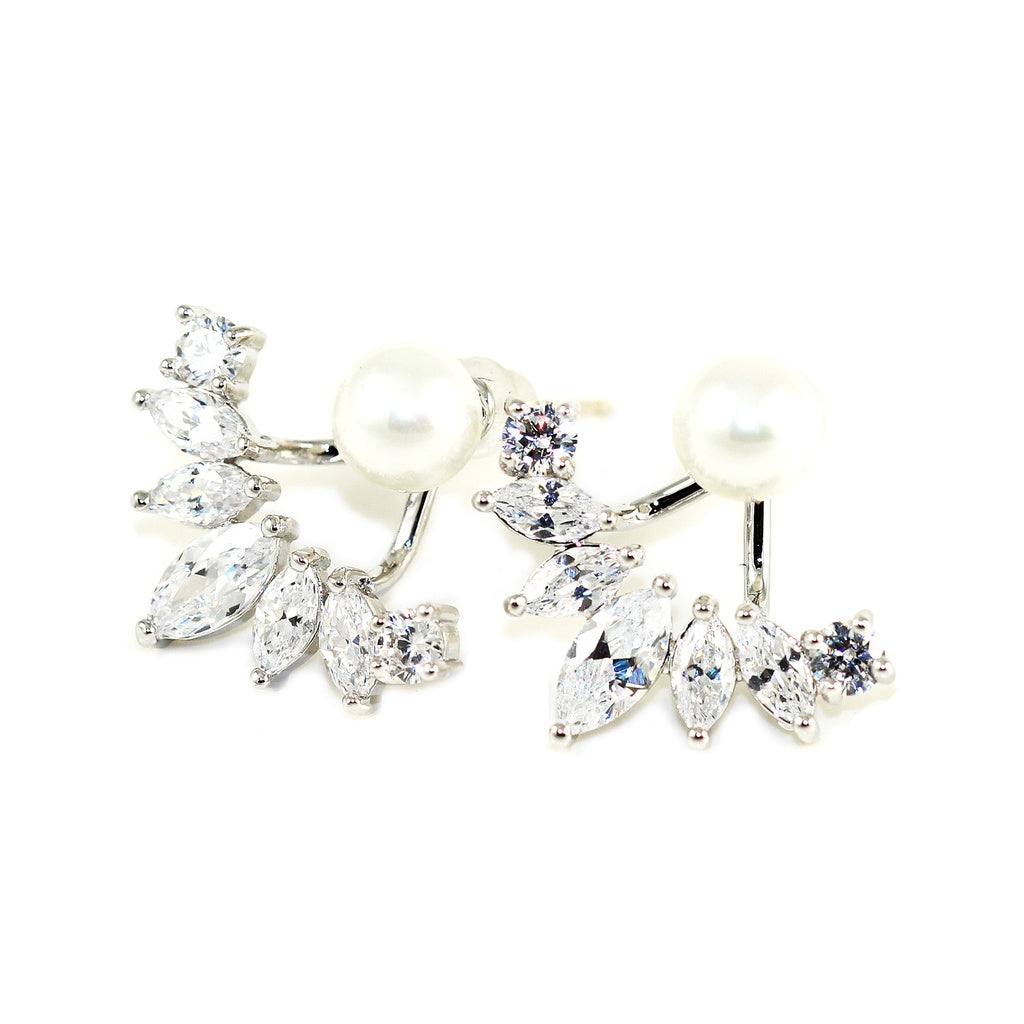 Iced Pearl Ear Jacket