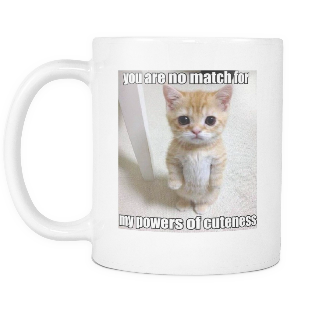 CAT POWERS OF CUTENESS 11 OUNCE DOUBLE SIDED COFFEE MUG