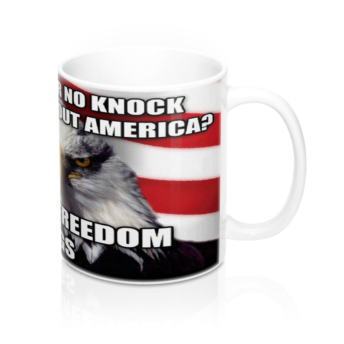 Freedom Rings USA eagle Flag Mug 11oz